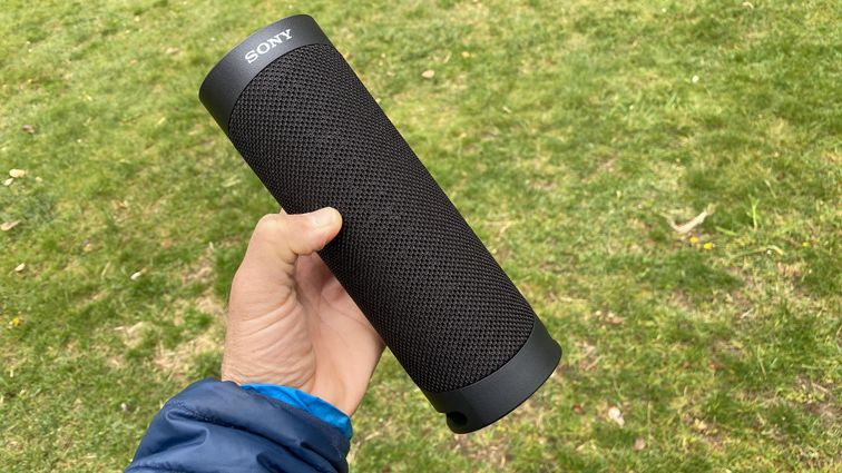 Sony's cylindrical SRS-XB23 ( Best Bluetooth and Wireless Speakers to Buy on Black Friday 2020)